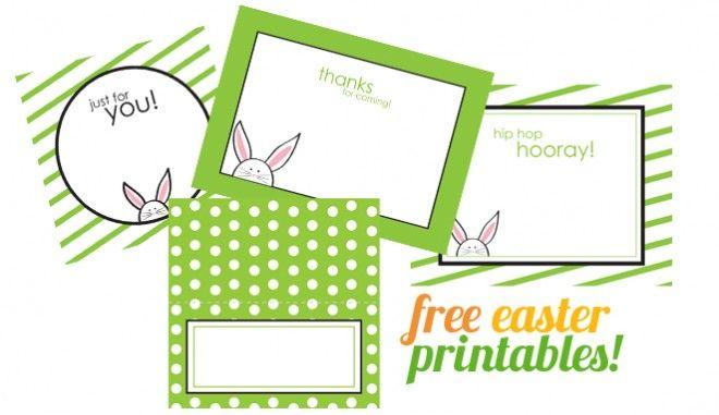 Green/white polka dot printable food label cards