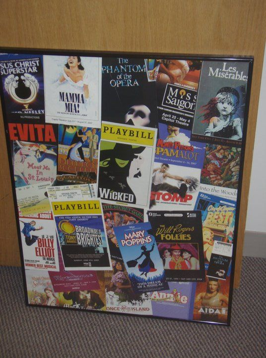 Idea for playbills another piece of art for future for Broadway bedroom ideas