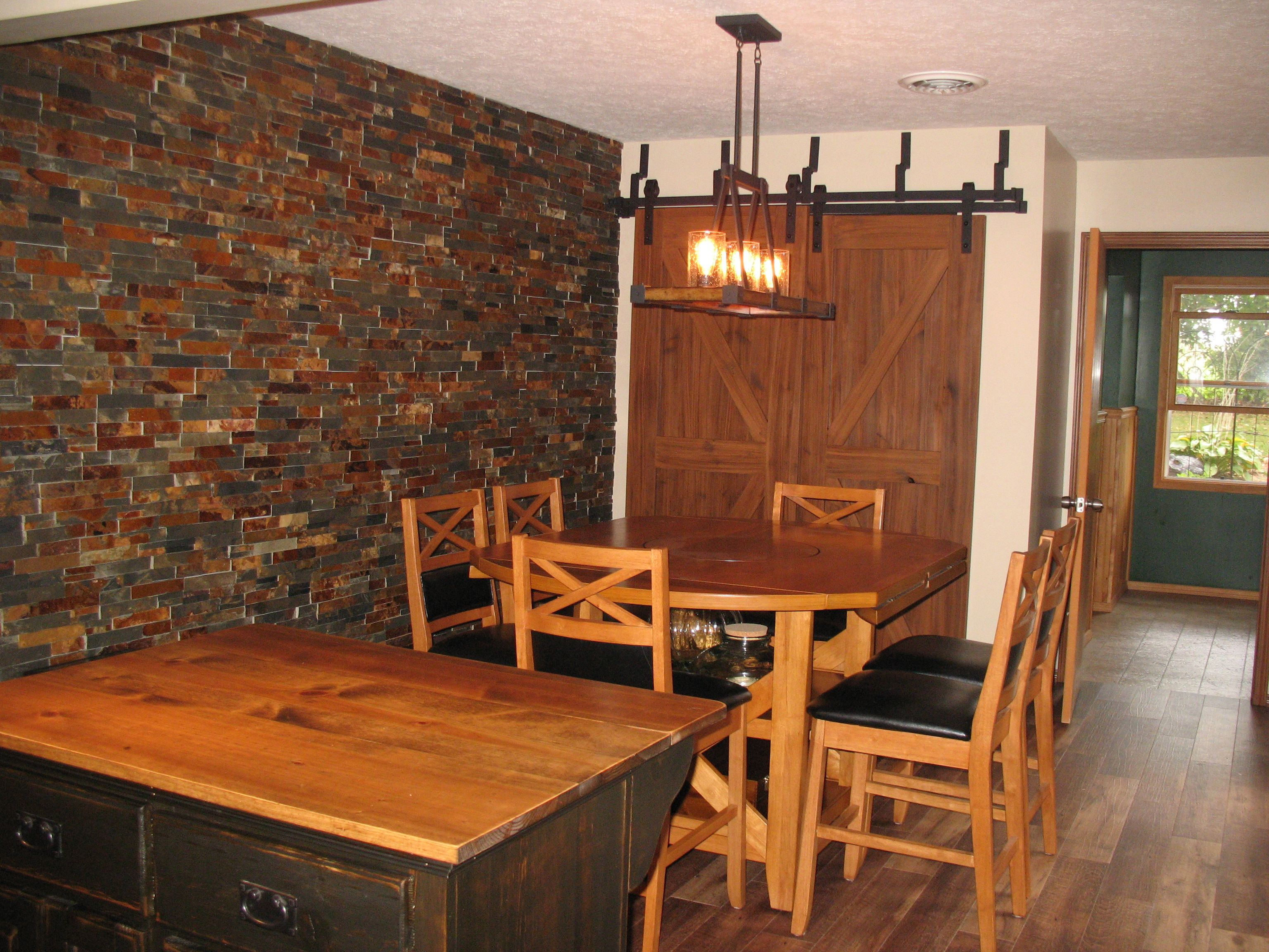 Dining Room Remodel Fair Our Dining Room Remodel With Stacked Stone Feature Wall And Home 2018