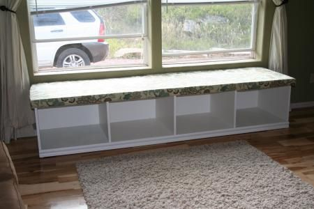 window seat with storage do it yourself home projects from ana white craftscraftscrafts. Black Bedroom Furniture Sets. Home Design Ideas