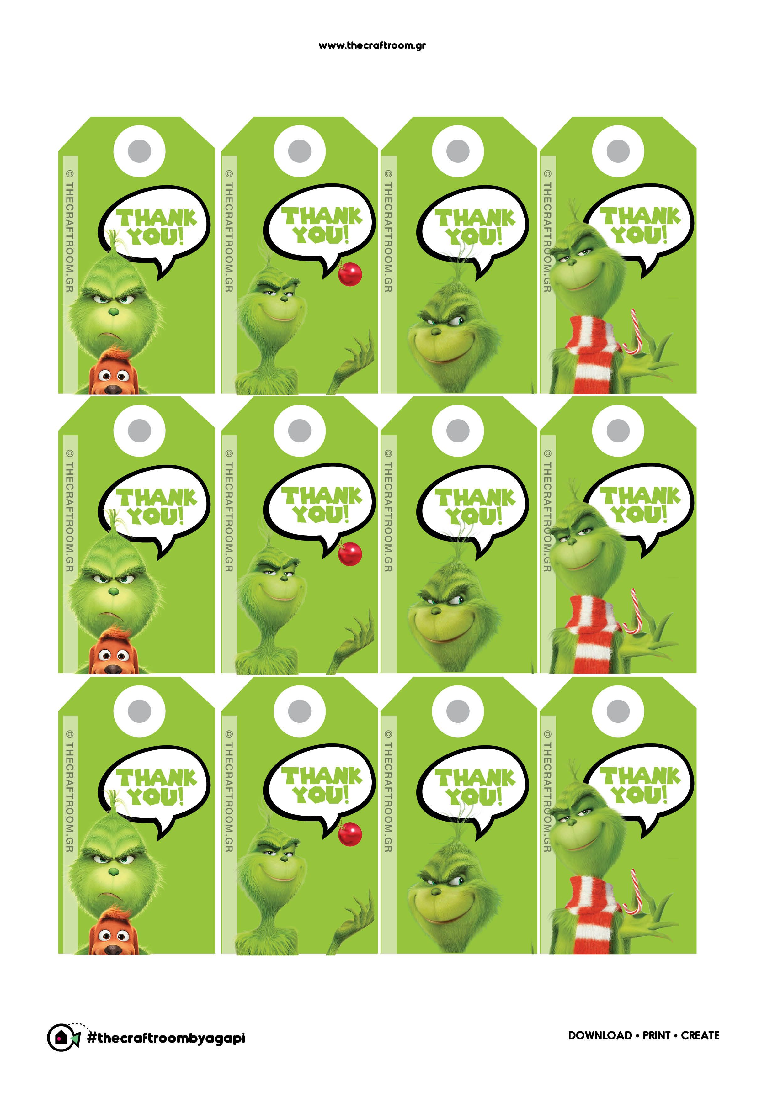 Grinch Party Thank You Notes Free Printables Sympathy Thankful