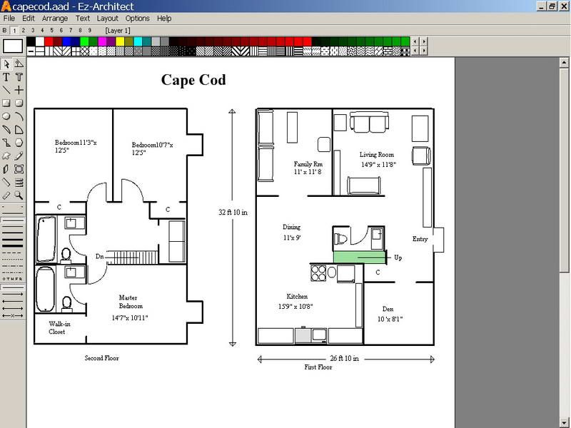 Free Floor Plan Design Program With Cape Cod Design Floor Plan Drawing Home Design Software Free Free Floor Plans