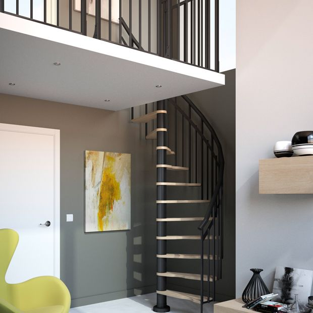 escalier spiral 180 travaux pinterest amenagement escalier escaliers et gain de place. Black Bedroom Furniture Sets. Home Design Ideas