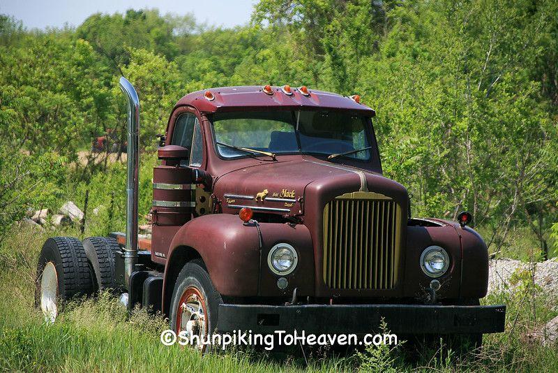 1962 Mack B 61 Semi Truck With Images Custom Trucks Trucks