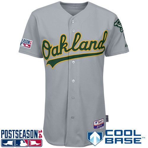 more photos 9655b 1811c Oakland Athletics Authentic Road Cool Base Jersey w/2014 ...