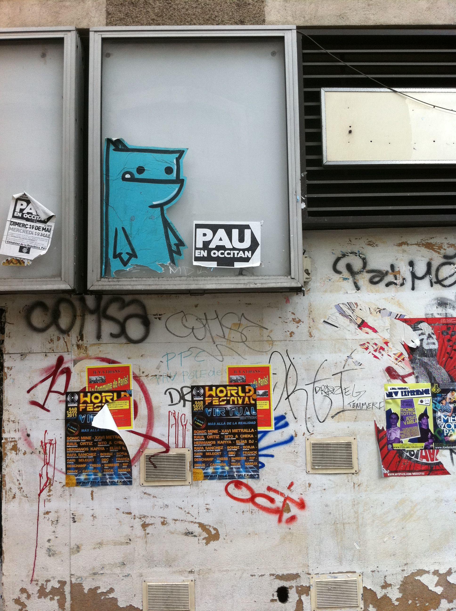 Street art : Monstre bleu (pau)
