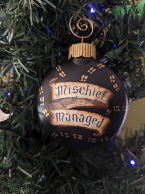 Harry Potter Christmas Ornaments 2020 Mischief Managed Christmas Ornament | Etsy in 2020 | Harry potter