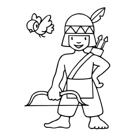 Comment dessiner un indien bricolage coloriage indien petit indien et coloriage carnaval - Coloriage petit indien imprimer ...