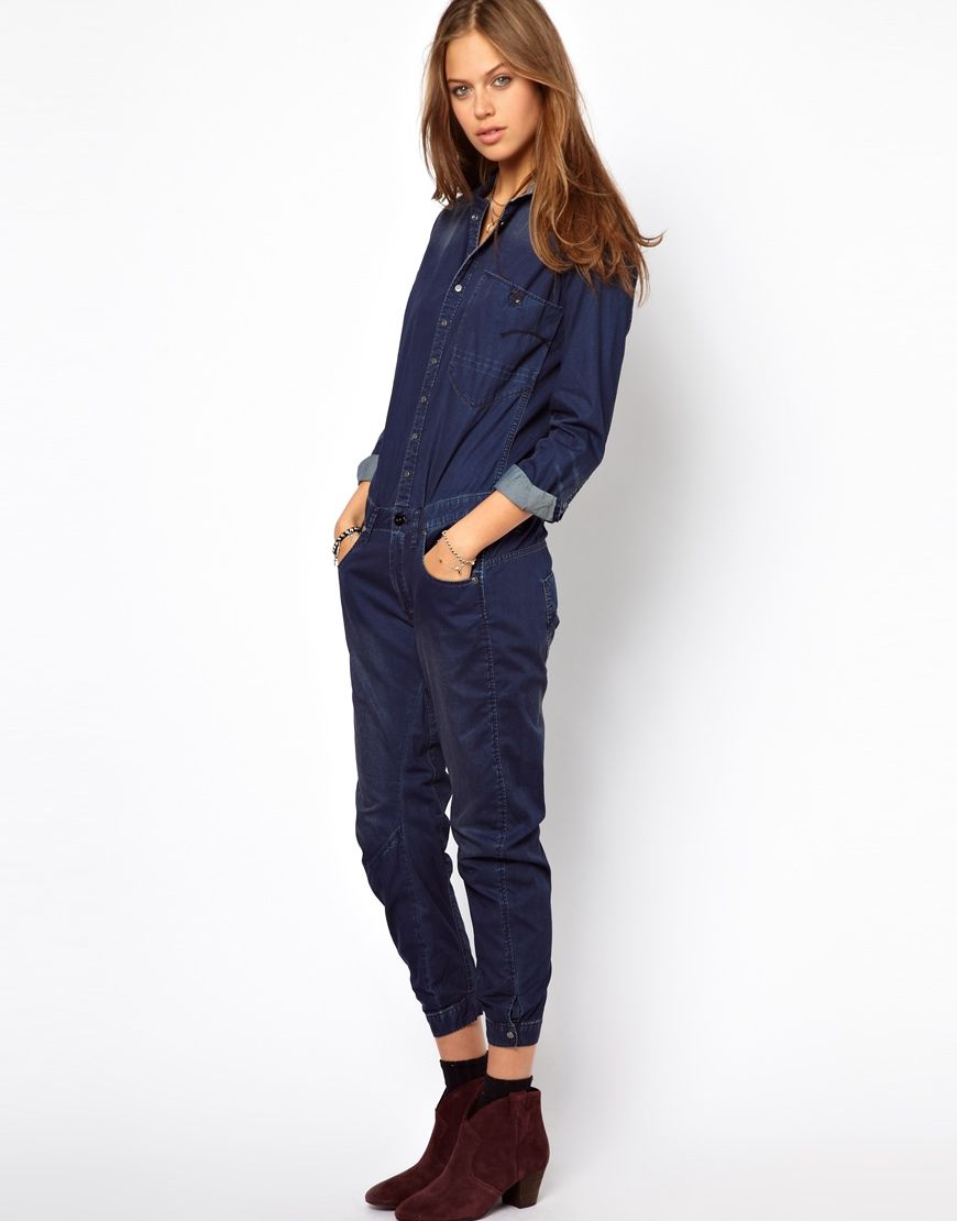 295d8bc6793 g-star denim jumpsuit - asos
