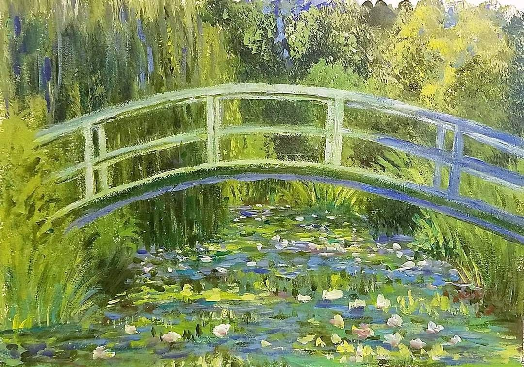 How To Paint Monet Bridge Over Waterlilies Pond Saturday Live