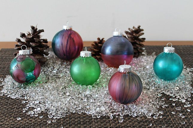Diy Hacks Glue Food Coloring Stained Glass Clear Glass Ornaments Christmas Decor Diy Diy Christmas Ornaments