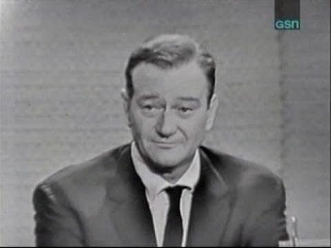 What S My Line John Wayne Joey Bishop Panel Nov 13 1960