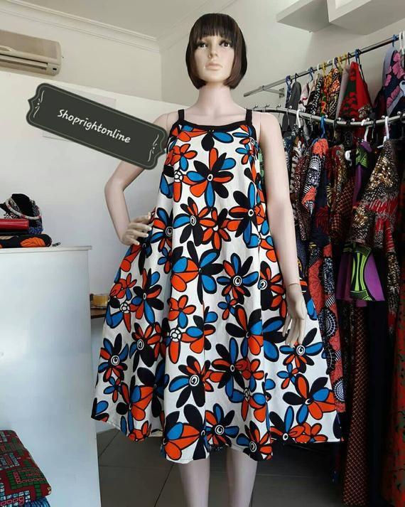 Ankara dress short dress for women's / kinte short dress / Africa print wax dress / causal dress party dress / summer dress #ankaramode