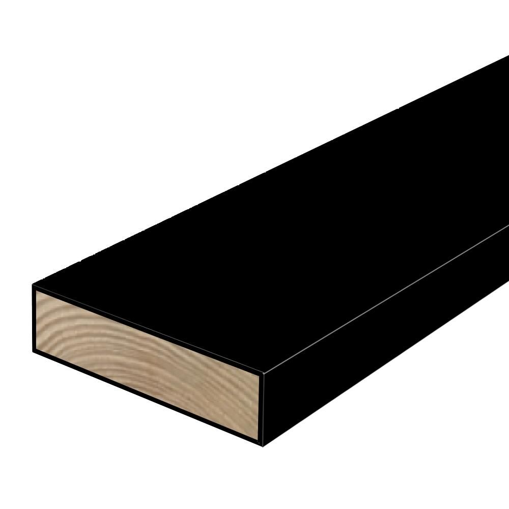 Woodguard 2 In X 6 In X 8 Ft 2 Polymer Coated Black Treated