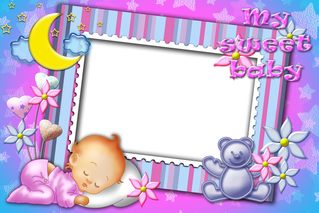 my sweet baby transparent photo frame