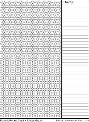 Universal Brick Stitch With Fringe Bead Pattern Graph Free Beading