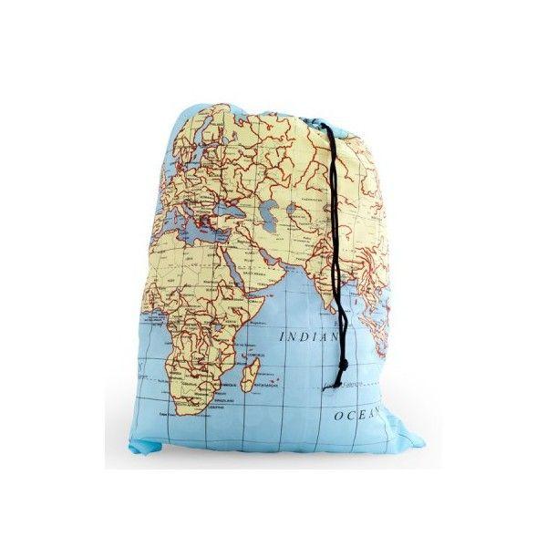 Sac à linge pliable Carte du Monde   Cadeau Maestro | Voyage