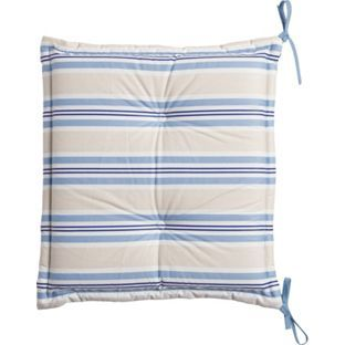 Nautical Stripe Seat Pad Cushion Pack Of 2 From