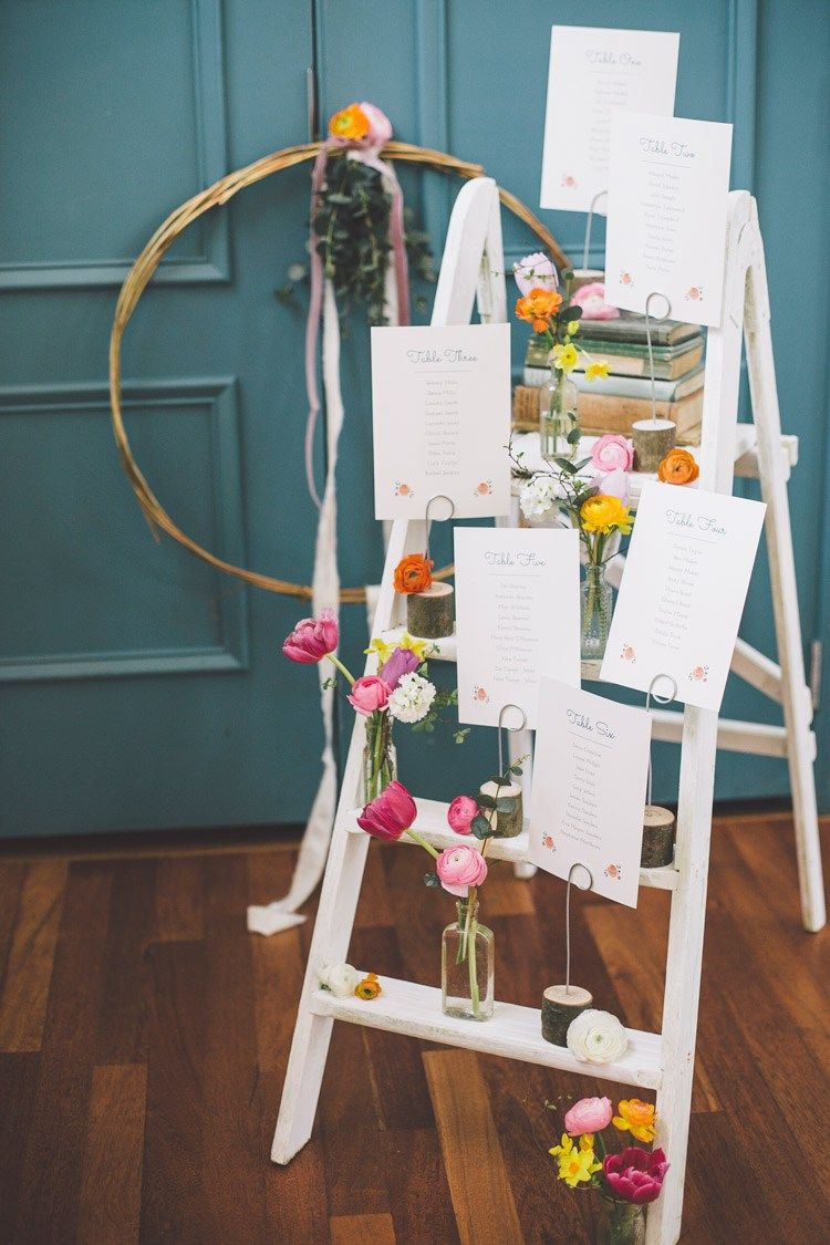 Modern spring time chic wedding ideas in table plan