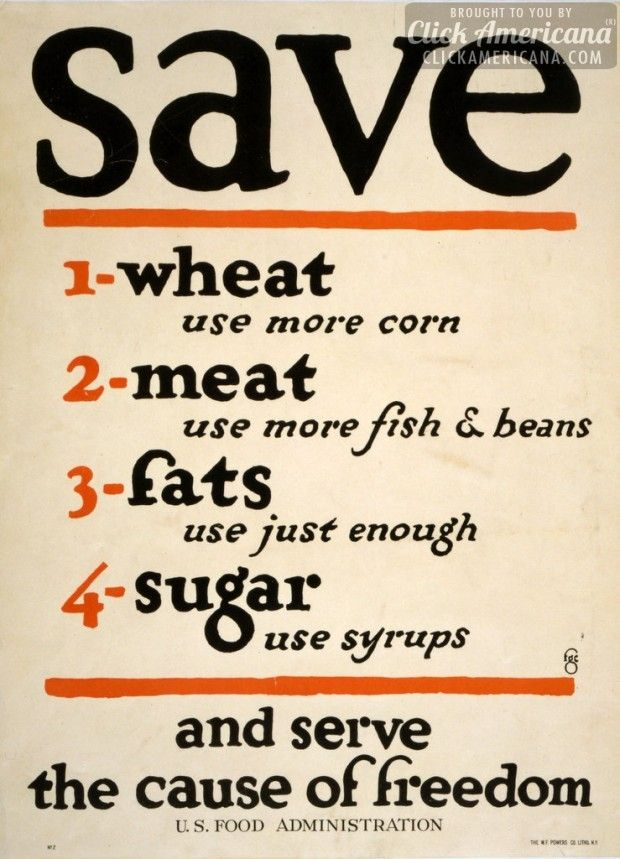 wwi food rationing posters 1917 1919