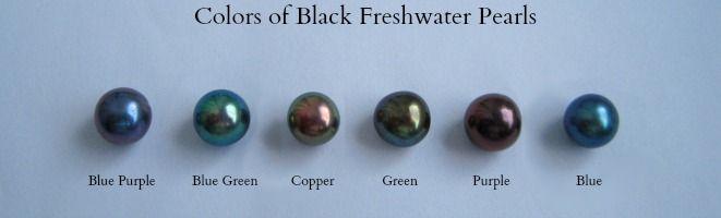 Black Freshwater pearl shades