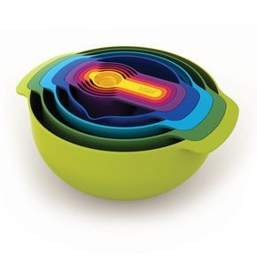 Joseph Joesph fancifies your essential kitchenware with these bright and colorful measuring cups and…