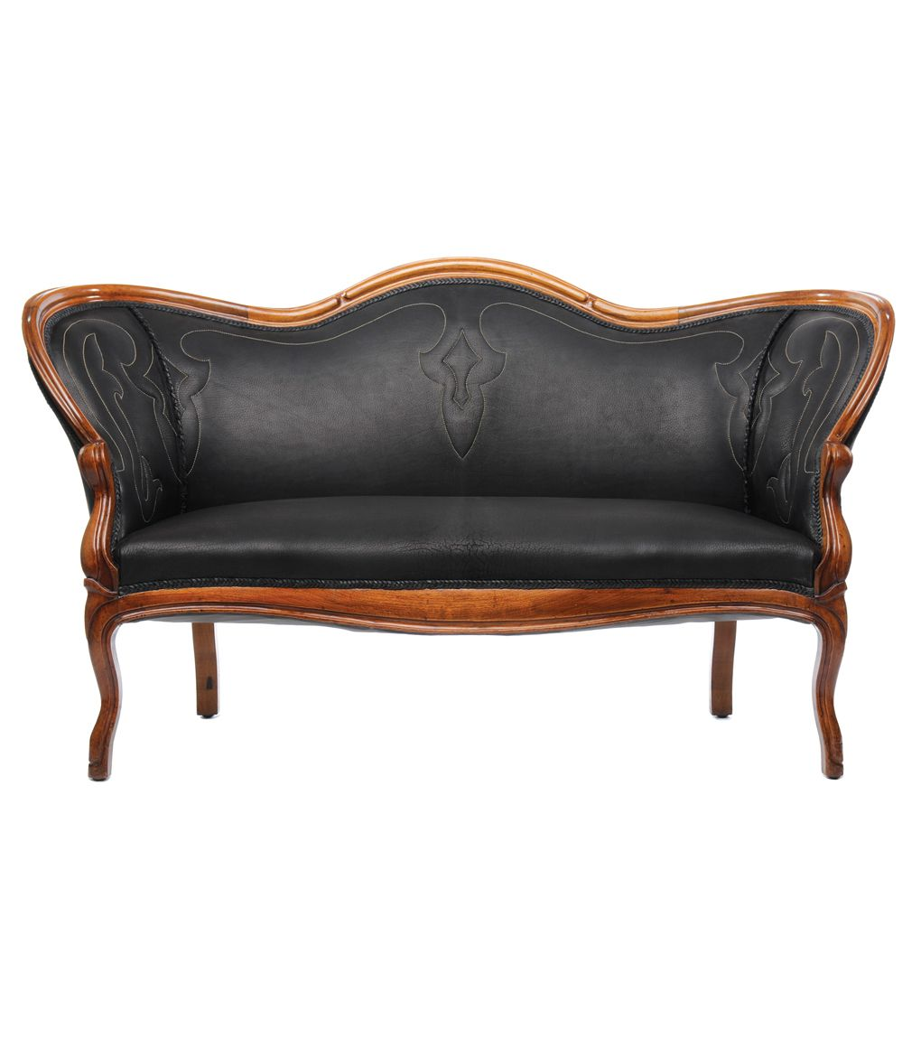 French Leather Sofa