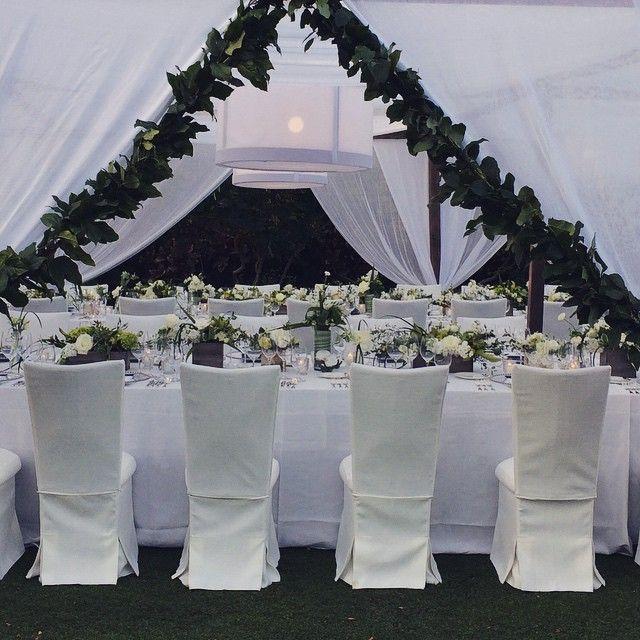 Wedding reception #flowersbyheidi #centerpieces #weddingflowers #morganeventssf #hawaiiislandevents #fourseasonshualalai