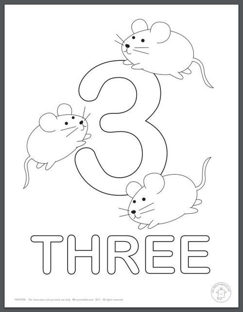 Learning Numbers Coloring Pages for Kids | Printable Coloring Pages ...