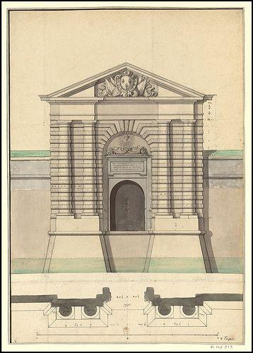 Projet pour la porte de Colmar, 1699