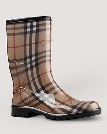 Burberry Rain Boots - Check Print #Glimpse_by_TheFind