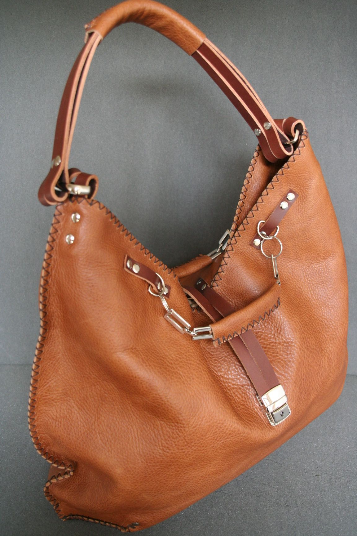 Image 0 of Bespoke One-off designer handcrafted large tan grainy ...
