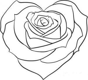 Apprendre A Dessiner Coeur De Roses Mariage Table Mariage