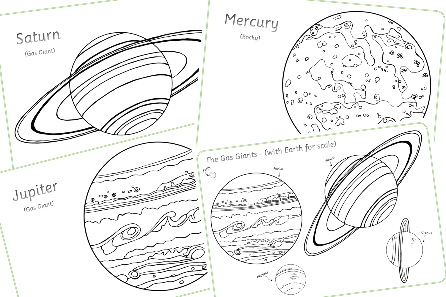 Free Space Planets Colouring Sheets Early Years Eyfs