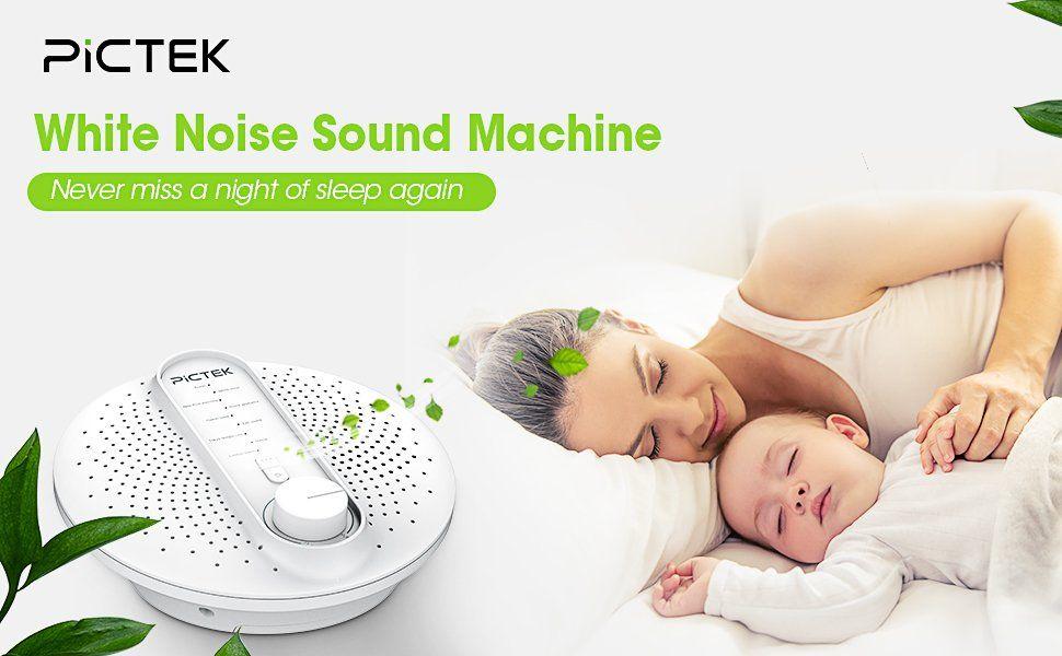 Amazon.com: Pictek White Noise Machine, 24 Soothing Sleep ...