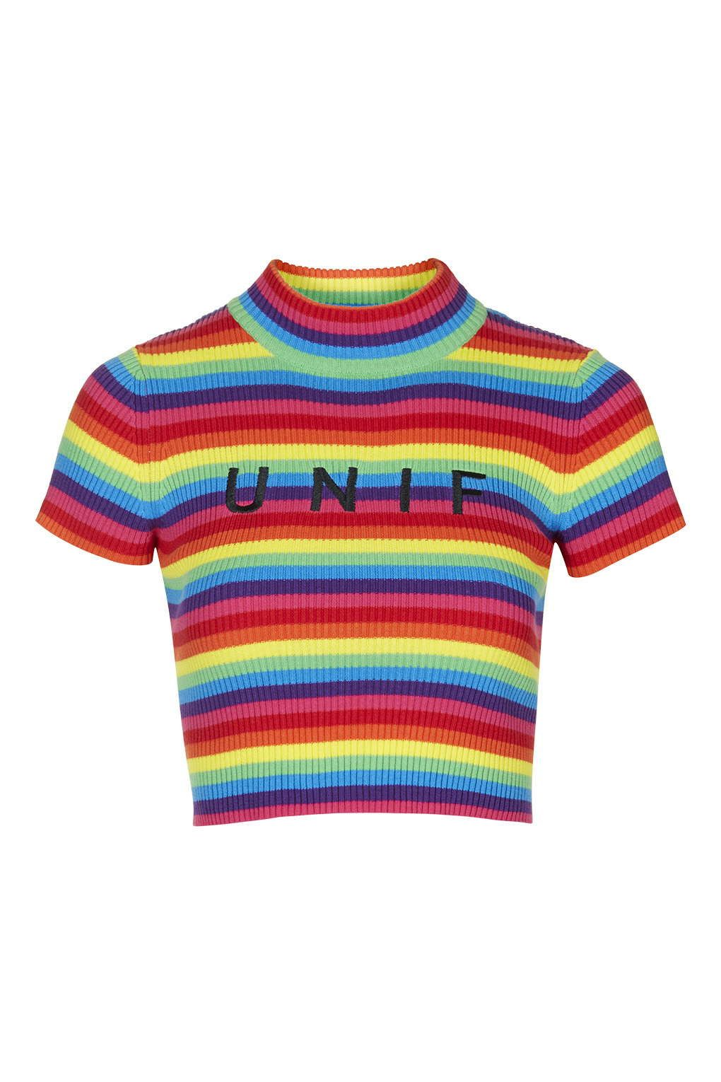 9115f91a3cb564 Logo Rainbow Tee by UNIF - Topshop