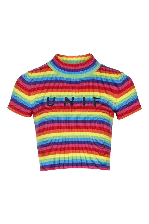 0ae1fadd7ce542 Logo Rainbow Tee by UNIF - Topshop