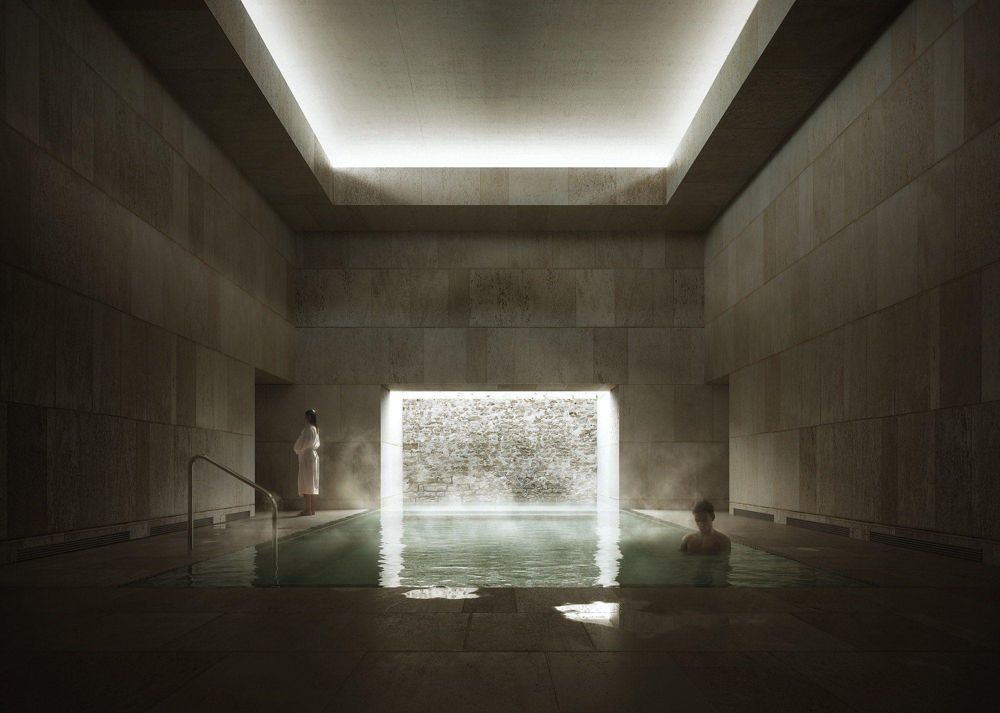 francisco mangado gewinnt wettbewerb in den franzsischen pyrenen spa im militrhospital architektur und architekten - Spa Und Wellness Zentren Kreative Architektur