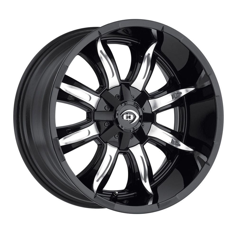 "20"" Vision 423 Manic Black Machined Wheel 20x9 6x135 6x5.5"