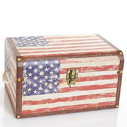 Decorative Photo Boxes American Flag Dome Box Patriotic Decorative Box  Medium Tri