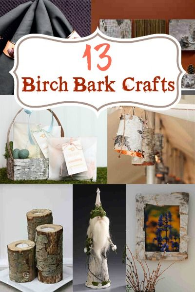 13 Birch Bark Crafts for Home and Holidays