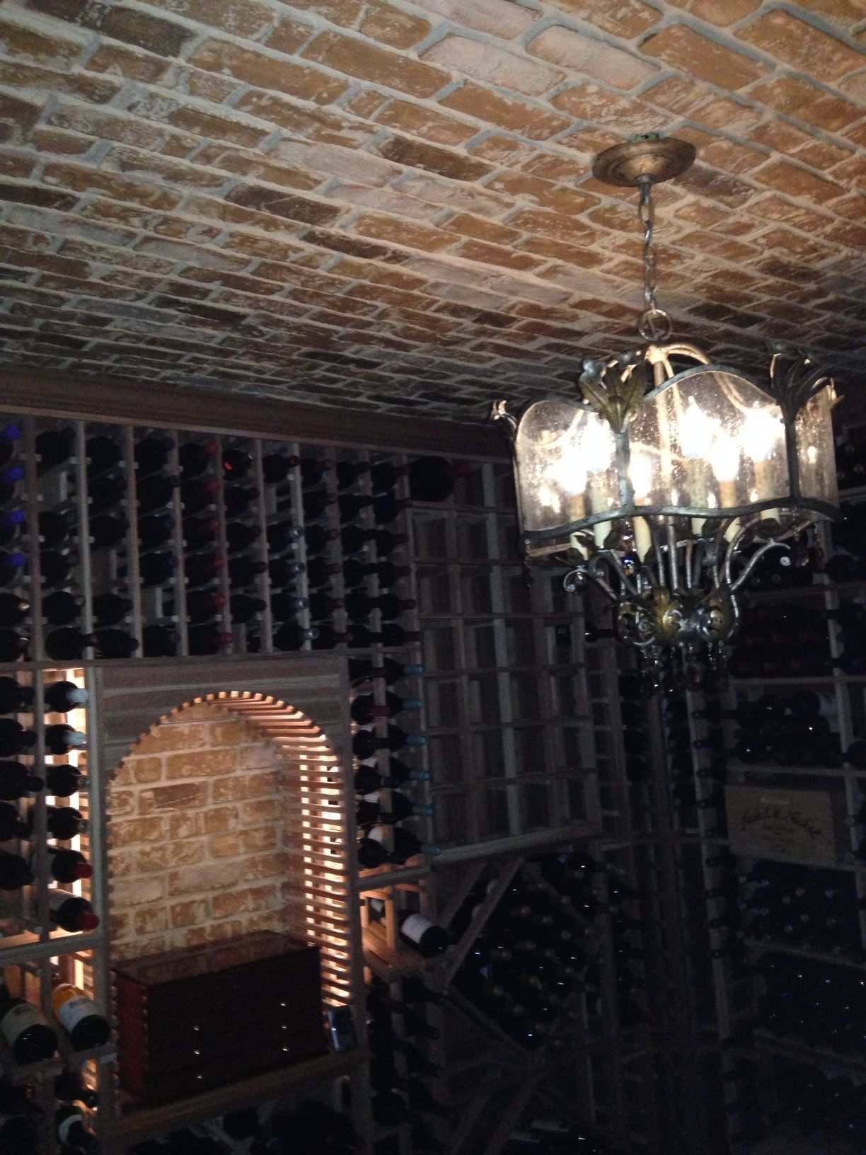 Diy Wine Cellar Using Used Brick Panels From Fauxstonesheetscom Basement