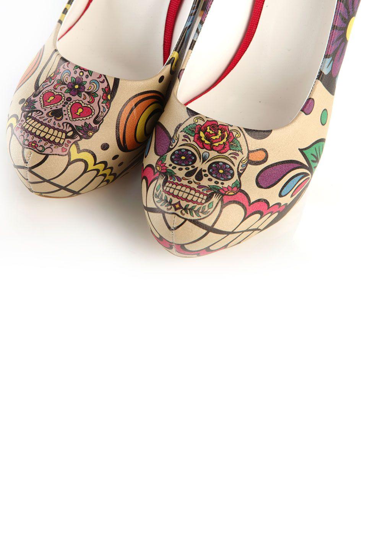 Elite Goby Sugar Skull Pumps in Multicolor | Schoenen