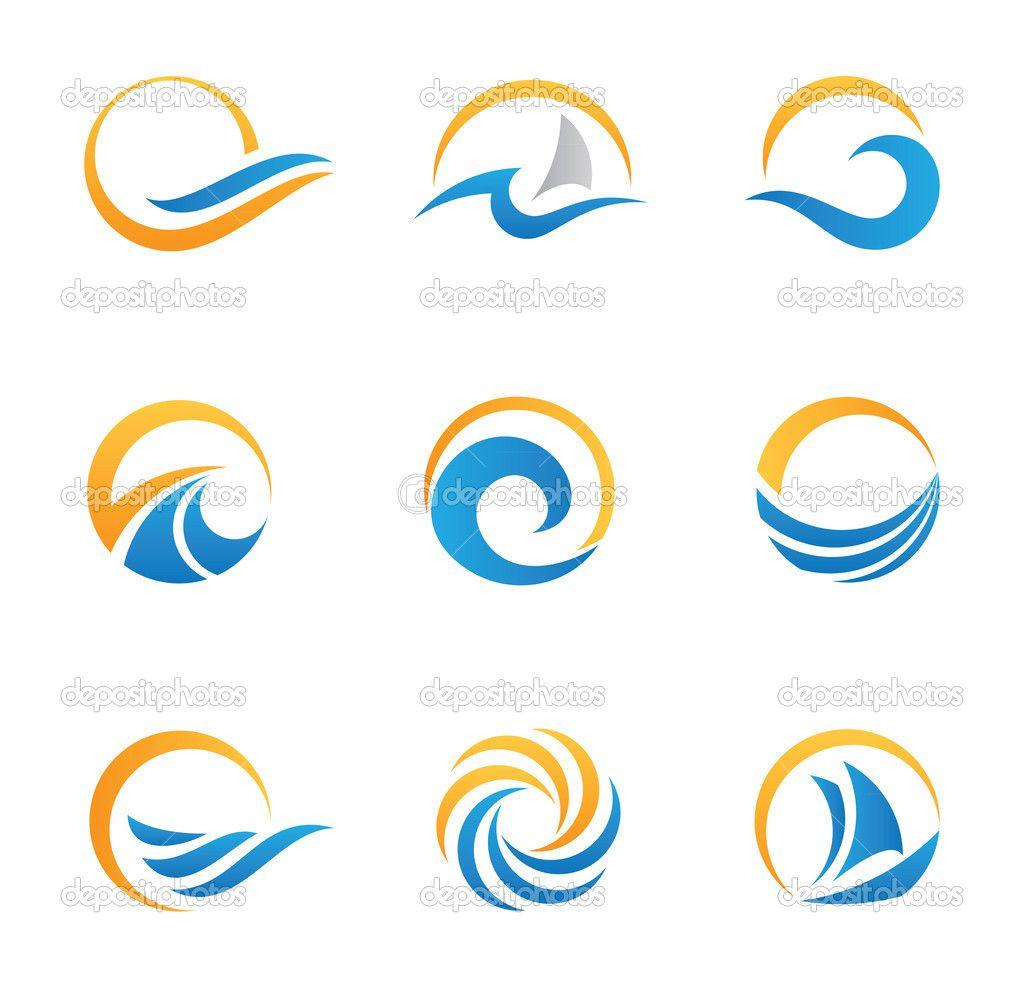Sol y mar royal viajes experiencia plantilla de logotipo ...