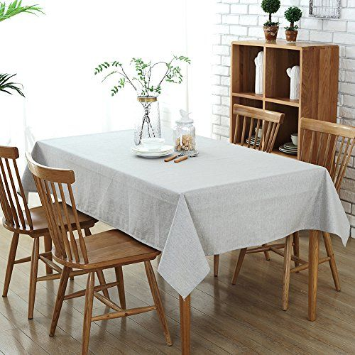 Tablecloths Waterproof Tablecloths For Rectangle Tables 5 Https Www Amazon Com Dp B072f261w3 Ref Cm Sw R Dining Table Table Cloth Dining Table In Kitchen