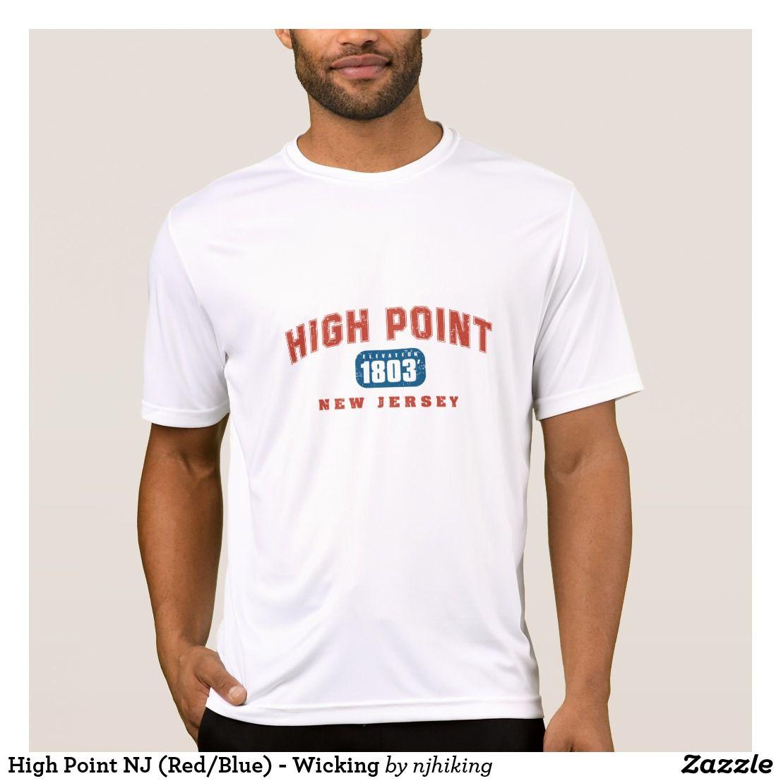 High Point NJ (Red/Blue) Wicking TShirt