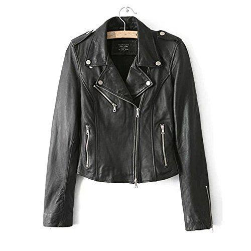 53cd8ac5c3ba  39.99 - LJYH Women s Zipper Motorcycle Biker Faux Leather Jackets