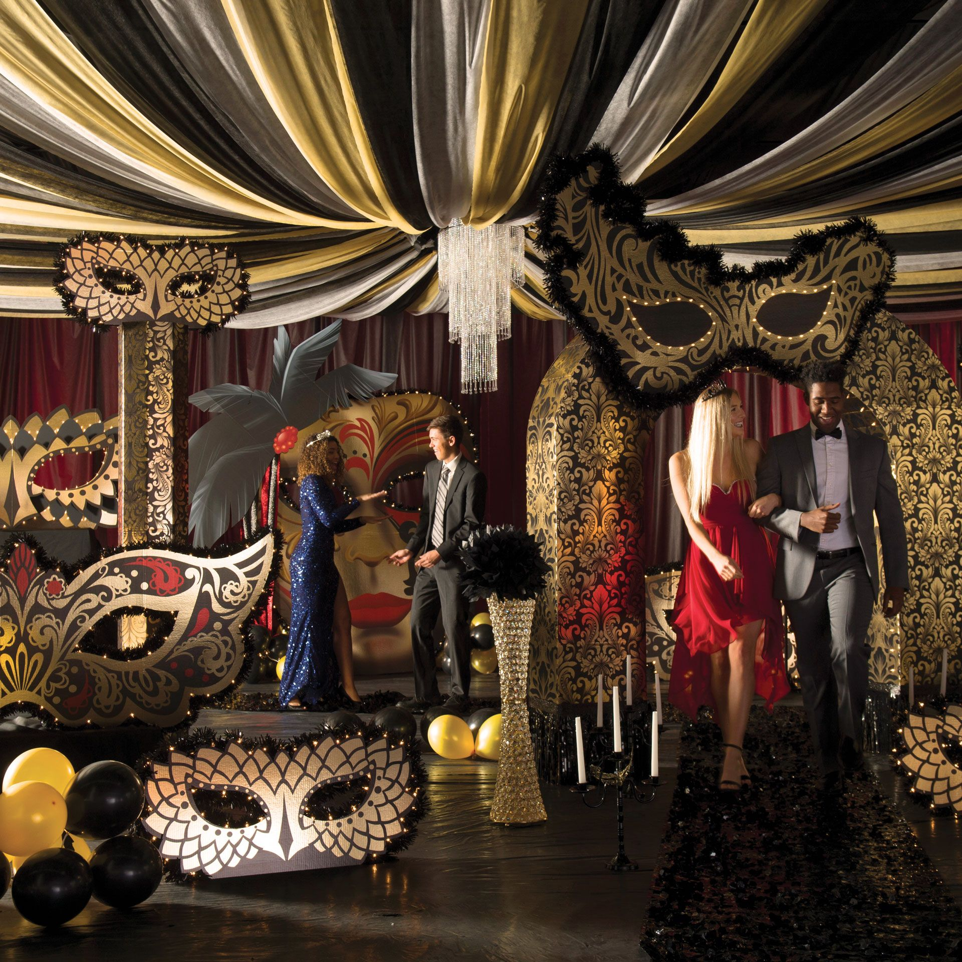 Masquerade Ball Wedding Ideas: Midnight Masquerade Theme Kit In 2019