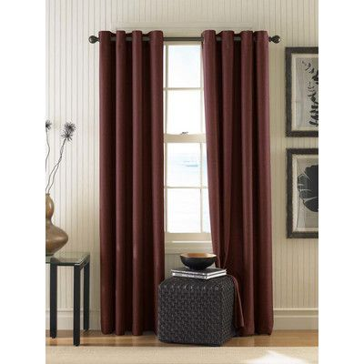 Curtainworks Montery Solid Semi Sheer Grommet Single Curtain Panel