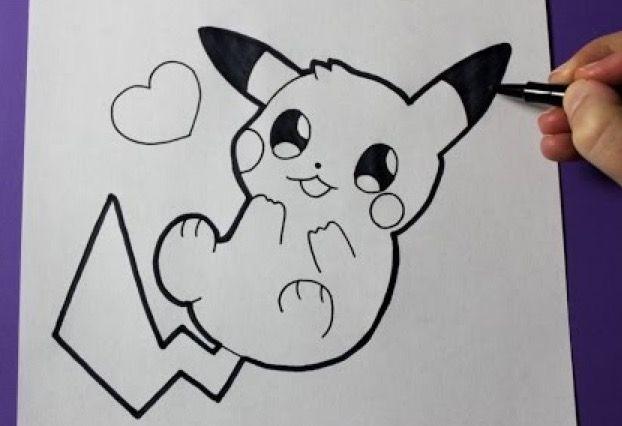Resultado De Imagen Para Pikachu Dibujo A Lapiz Como Dibujar A